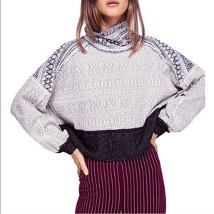 Free People At The Lodge roll neck sweatshirt